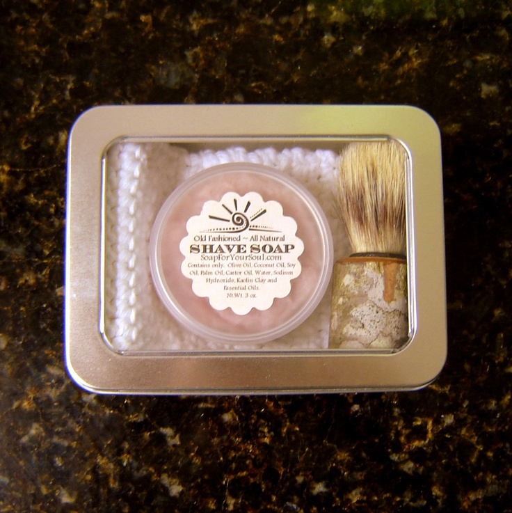 Fathers Day Sale / Handmade Soap Man Shaving Kit / Shaving Cream Soap / Shave For DAD / Groomsmen. $36.00 USD, via Etsy.