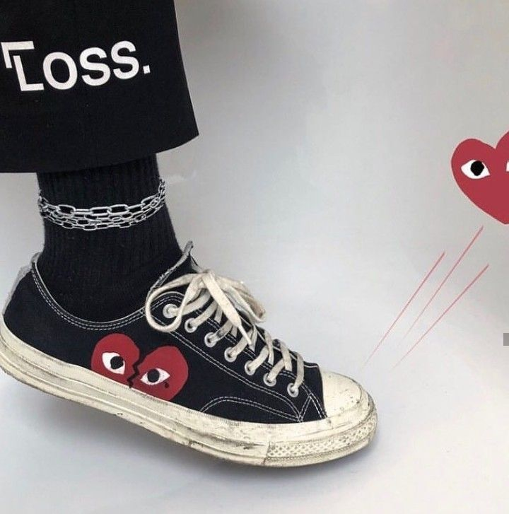 Comme Des Garcons Play Play Converse Sneakers In 2020 Converse Shoes Outfit Converse Shoes High Top Converse
