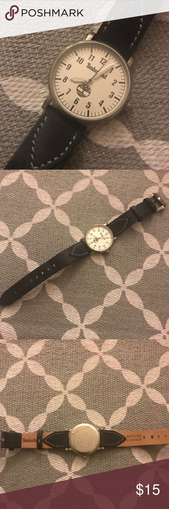 Women's Navy Leather Timberland Watch Women's Navy Leather Timberland Watch. Like new condition. Needs battery! Timberland Accessories Watches