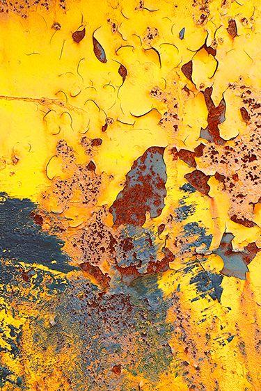 Rust and peeling paint by Alyssha Eve Csuk
