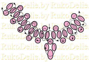 схема плетения ожерелья из жемчуга
