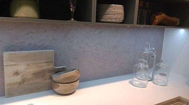 Panel 3D imitujący beton, Nolte Küchen, www.nolte-kuechen.pl