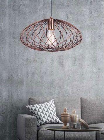 Φωτιστικό κρεμαστό μεταλλικό πλέγμα σε χάλκινο χρώμα τύπου σκουριά!  #bronze #lighting #bronzelighting #luminaire #livingroom #house #light #decor #style #industrial #modern #χάλκινο #φωτιστικό #novaluce