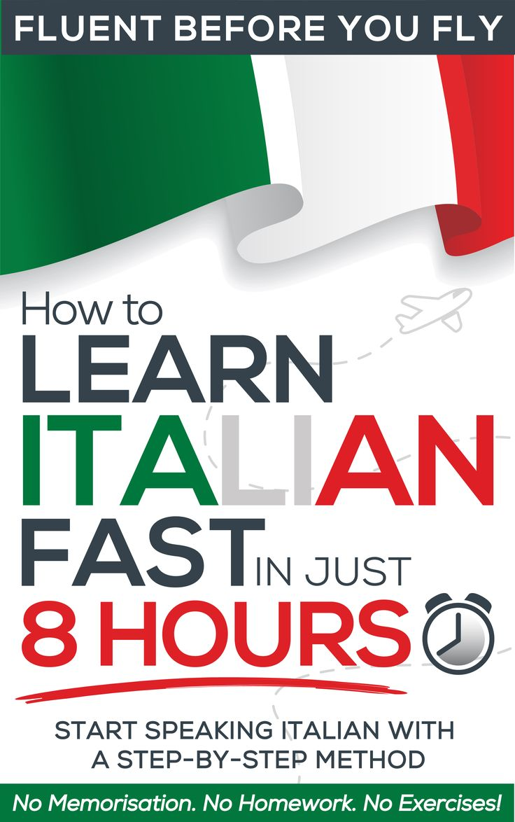 How to Learn Italian FAST in Just 8 Hours! is the results of 10 years of language learning experience aimed at beginners. Beginners to both language learning and to Italian. Each step is broken down into building blocks that are introduced in such a way that you create your response then move on to ever-more-complex sentences. There is no need to stop for homework, additional exercises, or memorising vocabulary, so you progress rapidly! After Step 2 you'll be creating your own sentences.