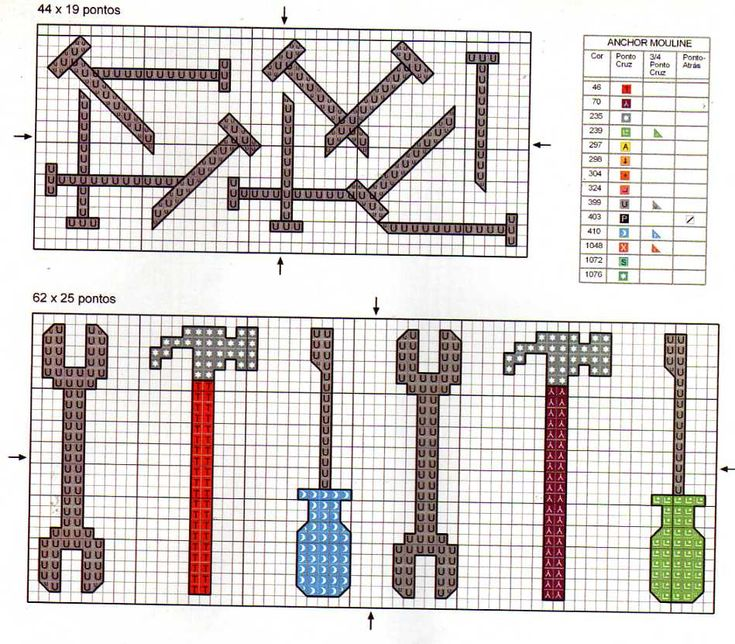 Cool pattern for peg board cross stitch.... Garage for dad?