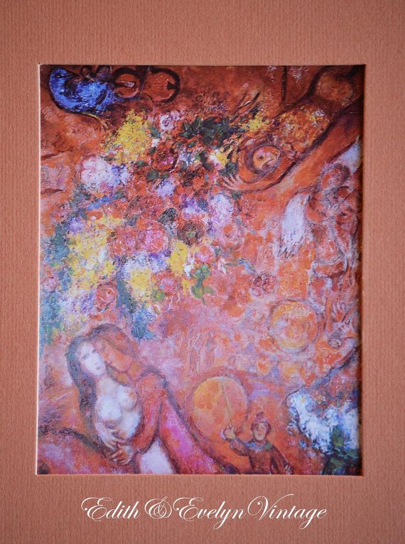 Vintage Marc Chagall Print The Circus French by edithandevelyn, $25.00