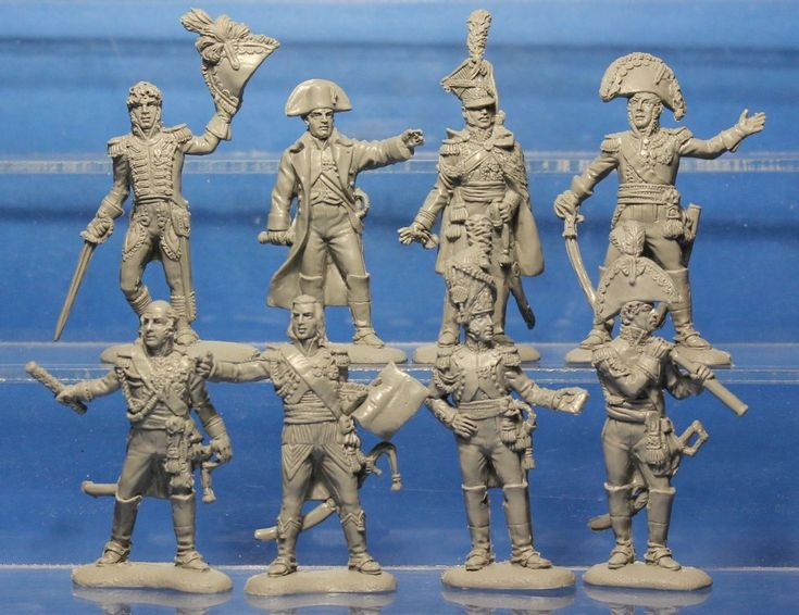 Plastic Toy Soldiers Napoleonic Wars French Army (Generals) 1/32 54 mm | eBay