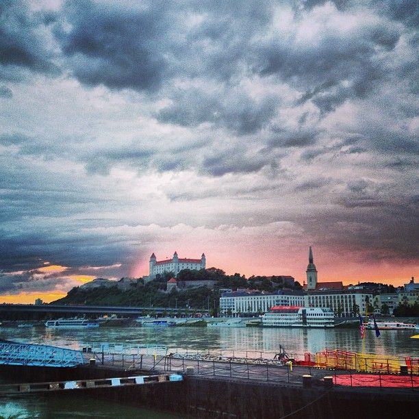 Tyršovo nábrežie Harbor / Marina in Bratislava, Slovakia.
