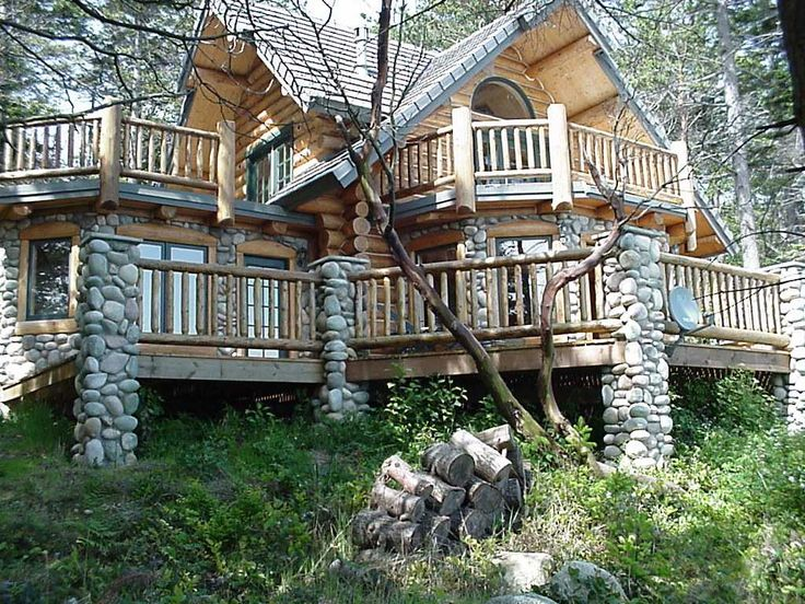 46 best decks porches and patios images on pinterest for Log home decks