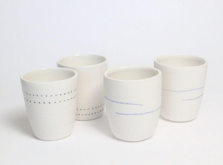 Handmade porcelain coffee cups ceramicsondemand.com