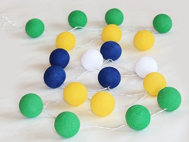 Brazil :) #ljusslinga#ljusslingor#harmoni#hjem#home#hem#inredning#cottonballs