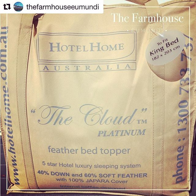 Oh how we wish we were relaxing (on the Cloud ☁️) amongst the pristine surroundings at the beautiful @thefarmhouseeumundi #Repost @thefarmhouseeumundi with @repostapp  ・・・  On chilly mornings like today there is only one place to be ... sinking into one of our ridiculously comfy beds with a @hotelhomeaust feather bed topper. Heavenly!   #TheCloud #thecloudbedtopper #hoteldesign #interiordesign #bedtopper #hotelbed #hotelhomeaust #bedlinen #mattresstopper #thecloud #cloudbed #eumundi