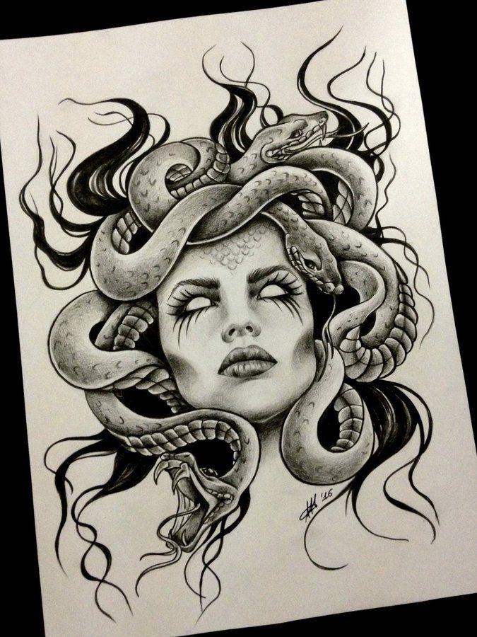 Medusa Tattoo Design, Sketch Tattoo Design, Sketch Design, Tattoo Sketches, Tattoo Drawings, Body Art Tattoos, New Tattoos, Cool Tattoos, Tattoo Hip