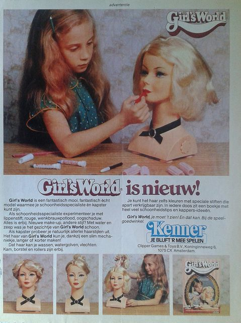 Girl's World ** Dutch vintage ads from Tina: the largest magazine for girls 1978