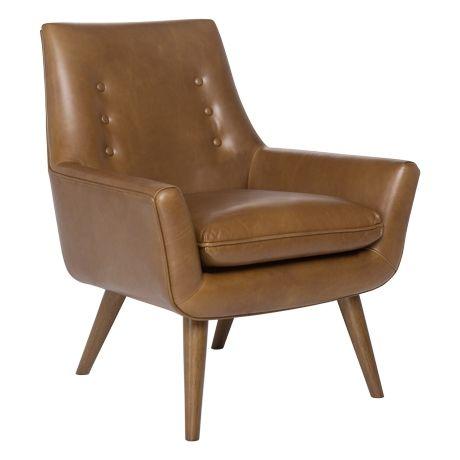 Retro Hazelnut Leg Chair Hunter Tan #lovecominghome