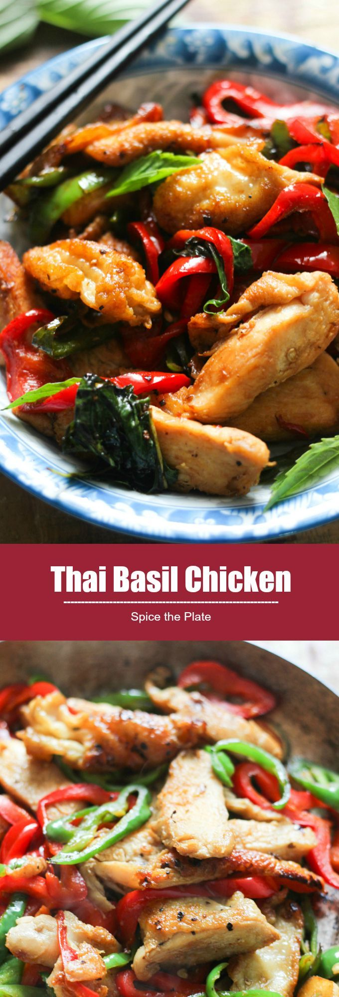 Thai Basil Chicken - one of the most popular thai dishes, ready in 30 minutes!