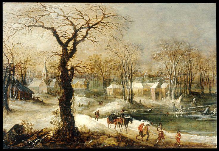 Joos de Momper the Younger (1564 - 1635). Зимний пейзаж.