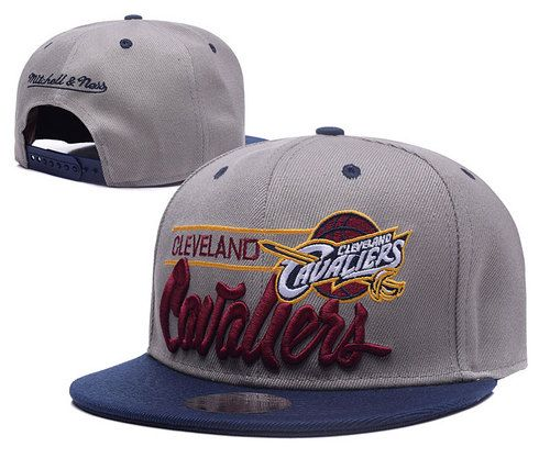 Cleveland Cavaliers Gray Snapback Hats Embroidery Logo only US$6.00 - follow me to pick up couopons.