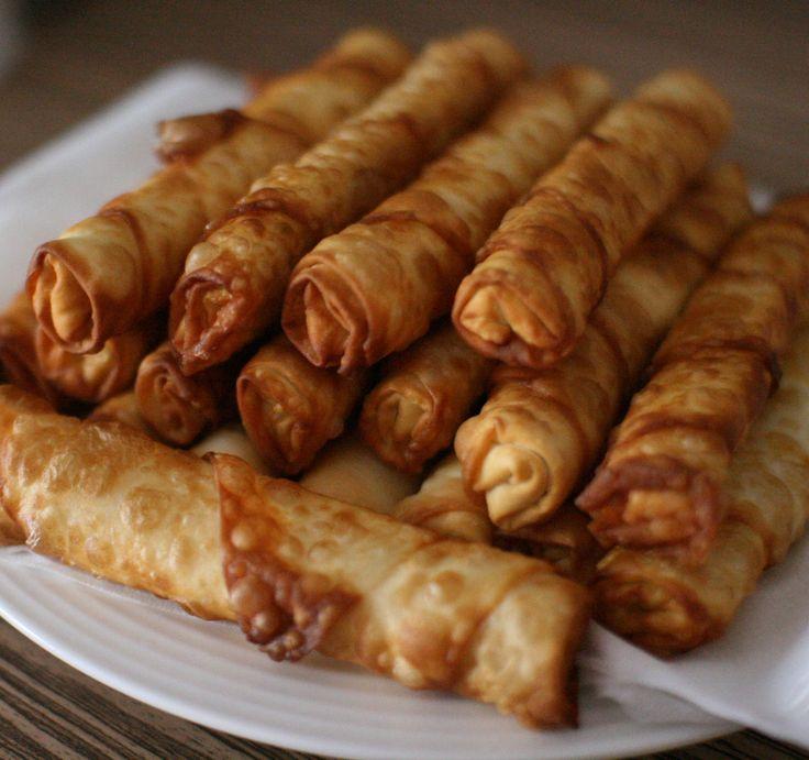 """BÖREK (Turkey) Translation: """"Twist"""" Ingredients: Yufka or filo dough, cheese (feta, kasar), often minced meat or vegetables"""