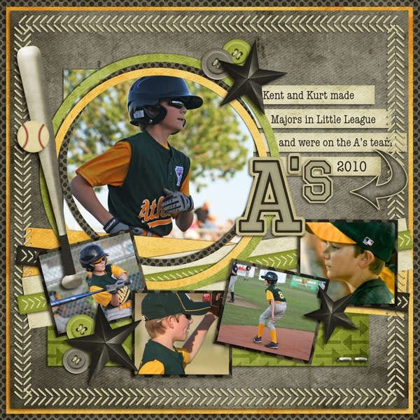Gab LaX?  or last of baseball? Sporting scrapbook page