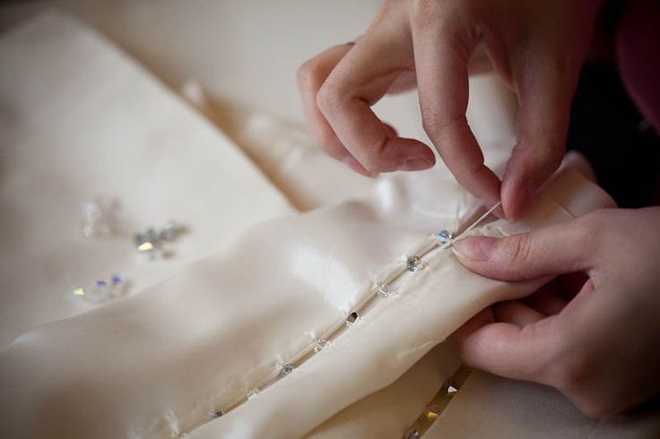 Hand-made wedding dresses