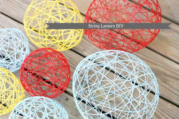 How To Make Yarn Lanterns