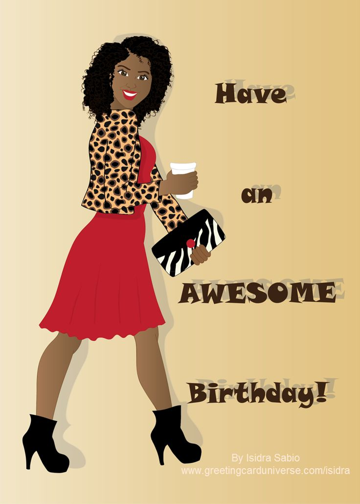 17 Best images about African American Greeting Cards – Leopard Print Birthday Card