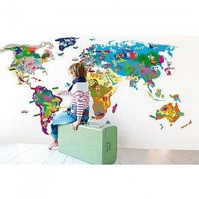 Map of the World Wall Sticker: Maps Wall, World Maps, Maps Stickers, Wall Stickers