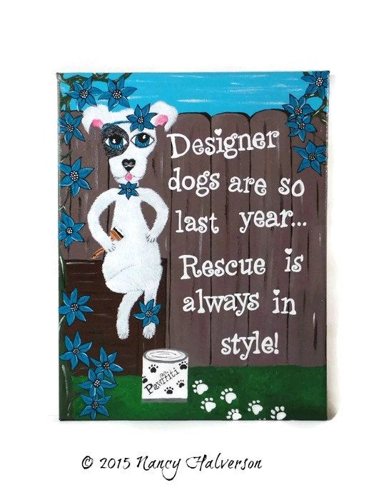 Pet Rescue Art Pit Bull Painting Pit Bull Art Dog by TheRescueMama