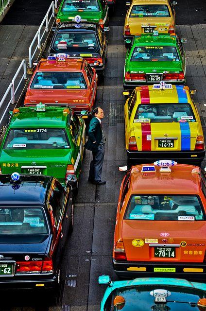 Taxi in Tokyo, Japan