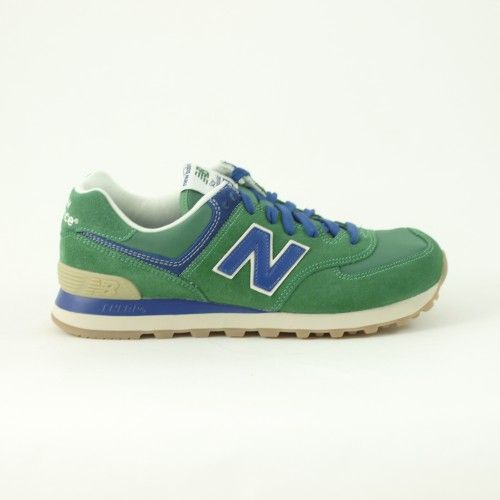 New Balance 574 Pelle Uomo Verde - acquista su olaraga.com #newbalance # shoes