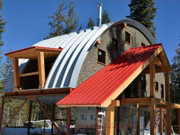 17 best images about quonset hut on pinterest hunting for Metal cabin kits