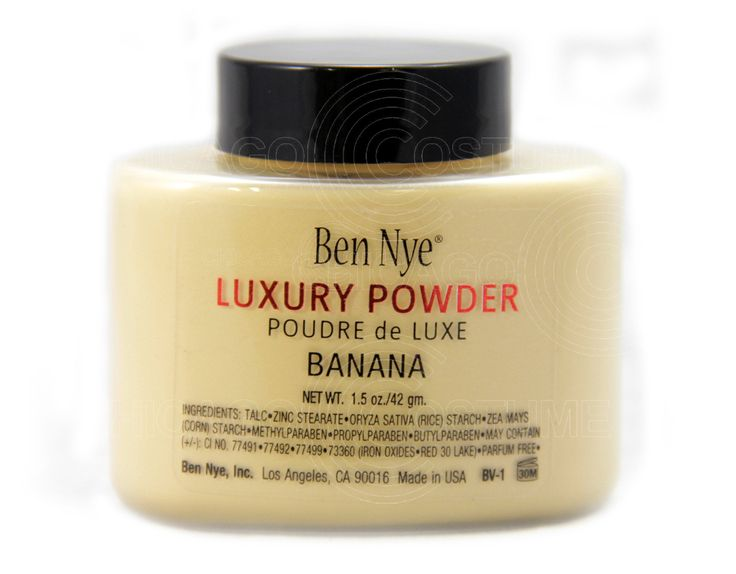 Chicago Costume - Ben Nye Banana Luxury Powder / Authorized Dealer, $15.99 (https://www.chicagocostume.com/ben-nye-banana-luxury-powder-authorized-dealer/)