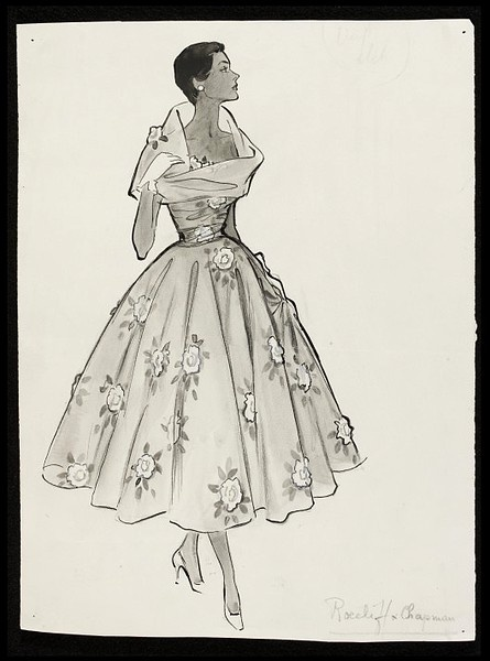 Vintage Dress Sketches Designs Images