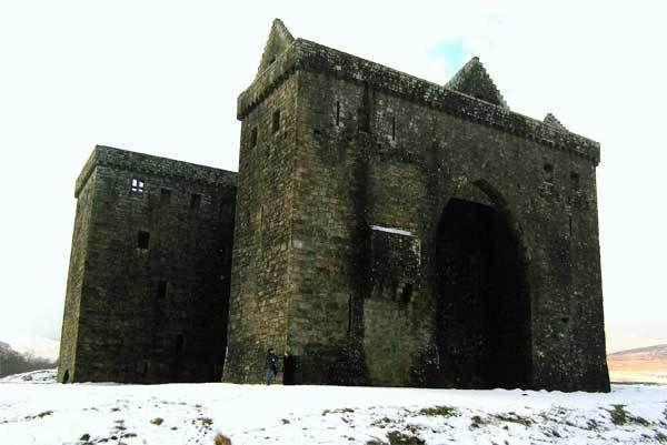 Hermitage Castle in the Scottish Borders - forbidding