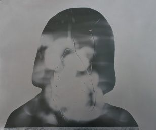 From the series, Faces I., II., photogram, 61 x 51 cm, 2002