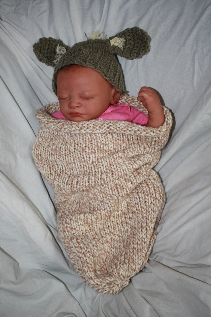 Yoda cocoon & hat    May the cute be with you!