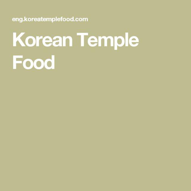 Korean Buddhist Temple Food Recipes