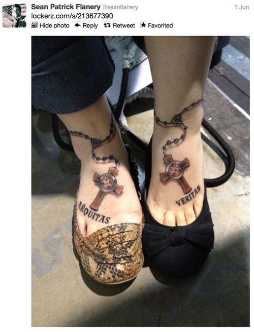 I just adore this Boondock Saints tattoo!