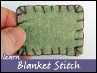 BlanketStitch - this is a MUST save. All the questions I ever had about doing the blanket stitch. Particularly if you run out of floss part way through.