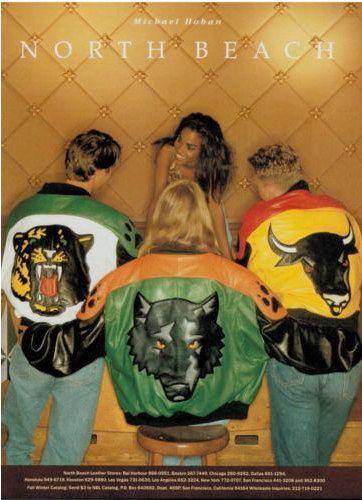 80s lupo giacca di pelle da Michael Hoban North di Hookedonhoney