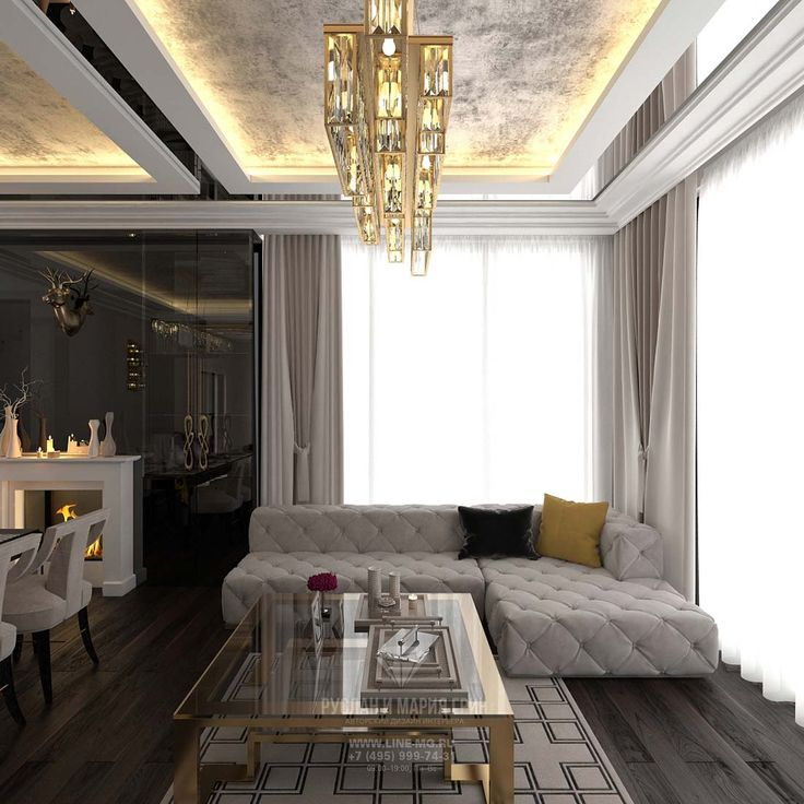 Дизайн гостиной на первом этаже коттеджа: фото http://www.interior-design.biz/dizayn-kottedzha-vnutri-foto-v-sovremennom-stile
