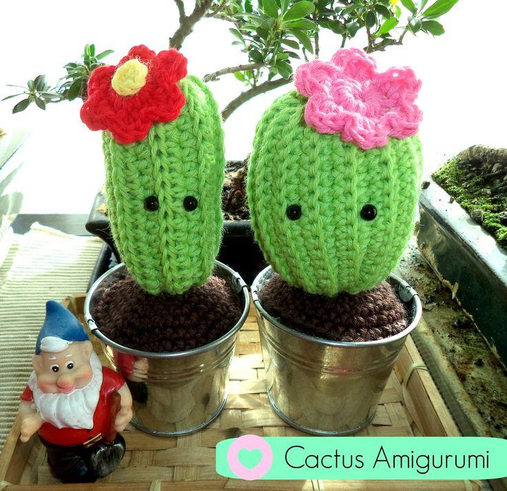 Para hacer este cactus amigurumi tan majo, necesitas Lana algodón verde Lana algodón marrón Lana para el color de la flor Ganchillo de 3,5mm´ Ojos de segurid...