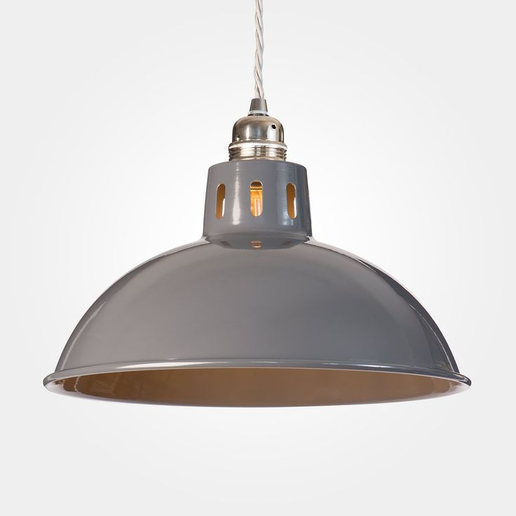 Factory Industrial Pendant Light - Dark Grey Gloss