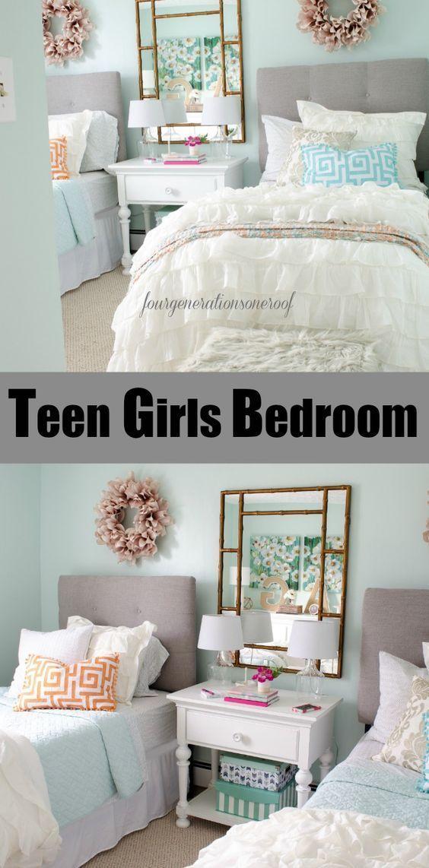 Sophisticated teenage girls bedroom makeover
