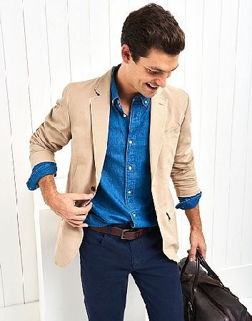 Crew Clothing The Travel Blazer In a cotton canvas with a soft garment wash, a chambray lining and patch pockets. Lightweight. Casual. Designed for every day.• 100% Cotton• Dry Clean Only http://www.MightGet.com/february-2017-2/crew-clothing-the-travel-blazer.asp