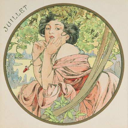 ❤ - Alphonse Mucha   The Months - July, 1899.