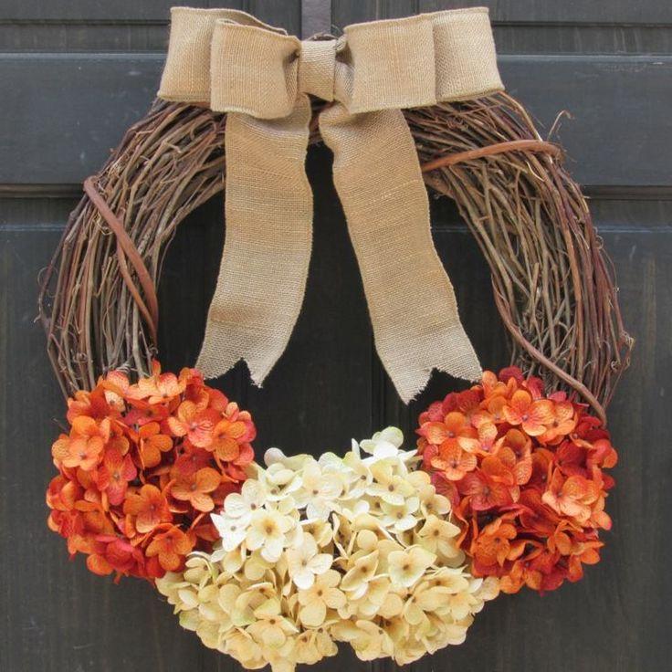 couronne de porte élégante pour l'automne                                                                                                                                                                                 Plus
