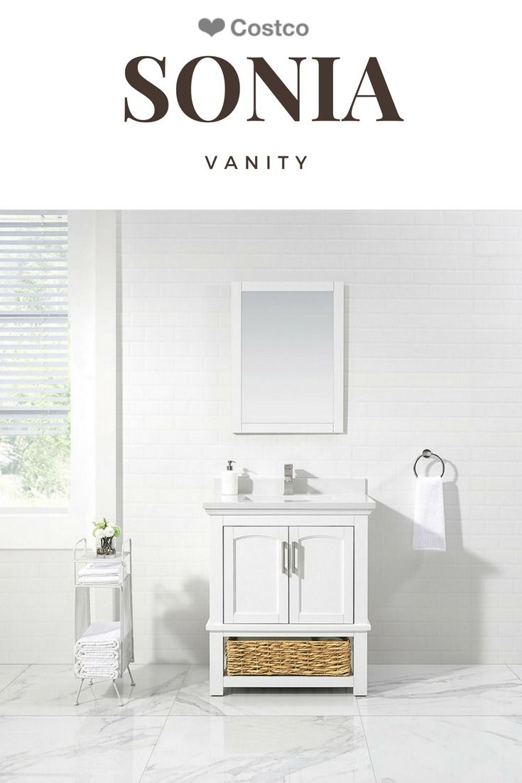 """Cottage chic gets a fresh spin in the Sonia 12"""" bathroom vanity by"""