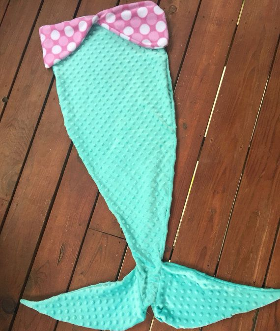 Mermaid tail blanket by themodernmini on Etsy